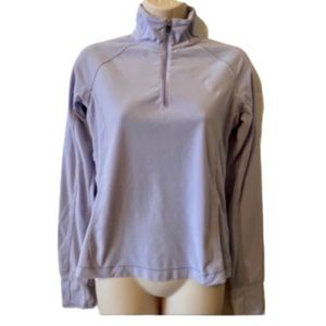 Lole lavender 3/4 zip lightweight fleece pullover
